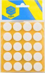 Vorel Podkładki filcowe okrągłe białe 20mm 20szt. 74831