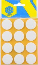 Vorel Podkładki filcowe okrągłe białe 28mm 12szt. 74833
