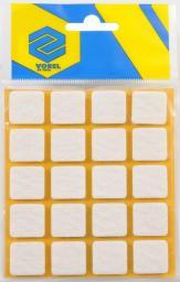 Vorel Podkładki filcowe kwadratowe białe 20x20mm 20szt. (74841)