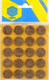 Vorel Podkładki filcowe okrągłe brązowe 20mm 20szt. (74851)
