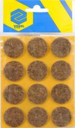 Vorel Podkładki filcowe okrągłe brązowe 28mm 12szt. 74853