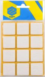 Vorel Podkładki filcowe kwadratowe białe 28x28mm 12szt. 74843