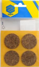 Vorel Podkładki filcowe okrągłe brązowe 40mm 4szt. 74855