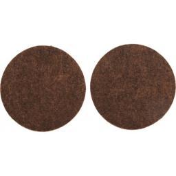 Vorel Podkładki filcowe okrągłe brązowe 50mm 2szt. 74856