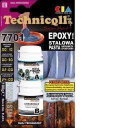 Technicqll Pasta epoksydowa stalowa Super Metal 1 7701 100g E-433