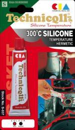 Technicqll Silikon wysokotemperaturowy czarny 300ml (S-686)