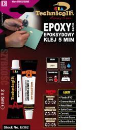 Technicqll Klej epoksydowy 5 minut 2x5ml E-362