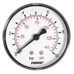 """Ferro Manometr 63mm przyłącze 1/4"""" tylne (M6310A)"""