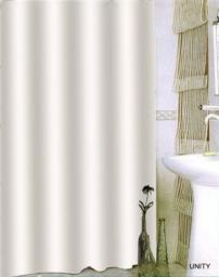 Bisk Zasłona prysznicowa Txt Unity 180x200cm biały  (08702)