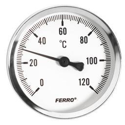 """Ferro Termometr tarczowy 1/2"""" T63120A"""