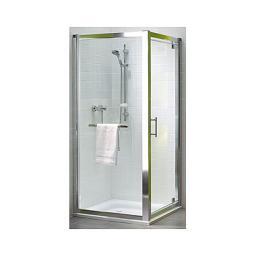 Koło Drzwi wnękowe Geo 6 Pivot 80cm szkło transparentne profil chrom (GDRP80222003)
