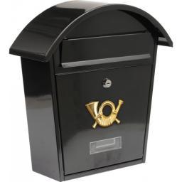 Vorel Skrzynka na listy 380x320x105mm czarna 78585