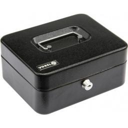 Vorel Kasetka na pieniądze czarna kluczyk 200x160x90mm (78622)