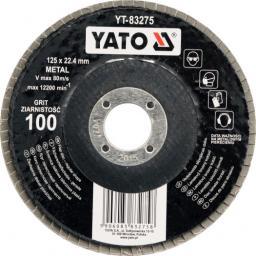 Yato Ściernica listkowa płaska   P60  125mm YT-83273