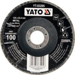 Yato Ściernica listkowa wypukła P100 125mm (YT-83295)
