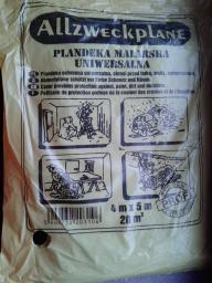 Folia malarska cienka 4 x 5m