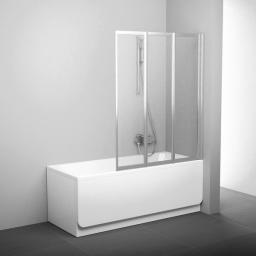 Parawan nawannowy RAVAK VS3 3-częściowy szkło grape, profil satyna (795V0U00ZG)