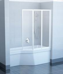 Parawan nawannowy RAVAK VS3 3-częściowy szkło grape, profil biały (795V0100ZG)