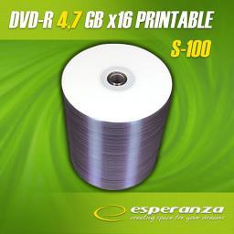 Esperanza DVD-R 4.7GB x16 DO NADRUKU SZPINDEL 100s