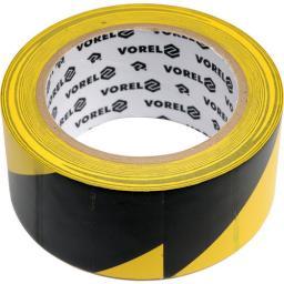 Vorel Taśma ostrzegawcza klejąca żółto-czarna 48mmx33m (75231)