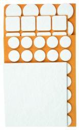 Top Tools Podkładki filcowe różne białe 106szt. - 98Z147
