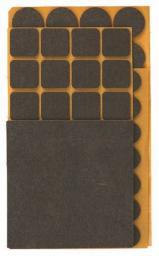 Top Tools Podkładki filcowe różne brązowe 106szt. (98Z146)