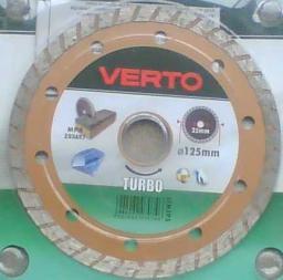 VERTO Tarcza diamentowa turbo 125mm 61H3P5