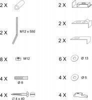 RAVAK Elementy montażowe do wanny Evolution  (B2H000000N)