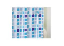 Bisk Zasłona prysznicowa Peva Meadow 180x200cm niebieski  (00073)