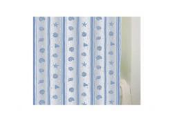 Bisk Zasłona prysznicowa Peva Shell 180x200cm błękitny  (03810)