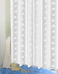 Bisk Zasłona prysznicowa Peva Shell 180x200cm biały  (03802)
