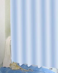Bisk Zasłona prysznicowa Peva Uni 180x200cm niebieski  (03510)