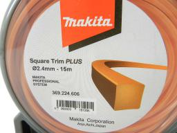 Makita Żyłka nylonowa kwadratowa PLUS 2,4mm 206m - 369224608