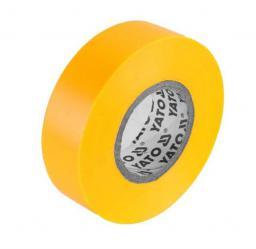 Yato Taśma elektroizolacyjna 19x0,13mm 20m PVC, izolacja-max 40kV żółta - YT-81654