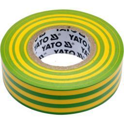 Yato Taśma elektroizolacyjna 19x0,13mm/20m PVC, izolacja-max 40kV /żółto-zielony/ - YT-81655