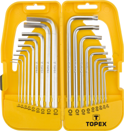 Topex Komplet kluczy sześciokątnych i torx długie 18szt. (35D953)