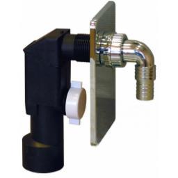 Syfon do pralki i zmywarki Rawiplast podtynkowy DN50 chrom (A603M50)