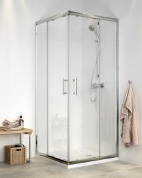 Cersanit Kabina kwadratowa Onega 80cm szkło transparentne profil chrom (S151-007)