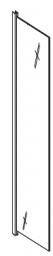 Aquaform Ścianka boczna NIGRA 90cm szkło wzór satinato profil chrom 600-092122S