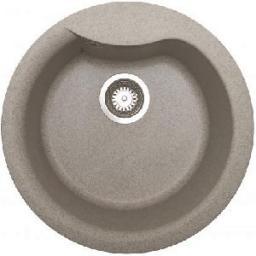 Pyramis Zlewozmywak 1-komorowy HYDRA bez ociekacza fi48,5cm granitowy grafit 073910101