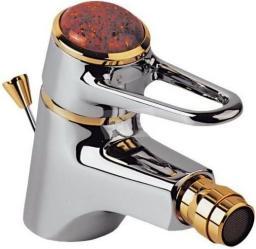 Bateria bidetowa KFA Jantar stojąca chrom + złoto (477-035-03)