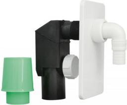 Syfon do pralki i zmywarki Hydroland podtynkowy biały (5900308735855)