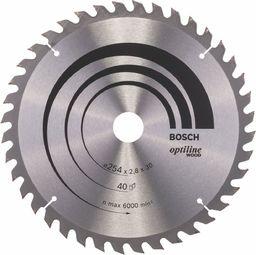 Bosch PIŁA TARCZOWA 254x30x2,8mm 40z. OPTILINE WOOD BOSCH - 2608640443