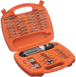 Black&Decker Wkrętak na baterie AA + zestaw akcesoriów 54szt.  - A7071
