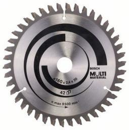 Bosch Tarcza pilarska 160x20x2,4mm 42z. MULTI MATERIAL - 2608640503