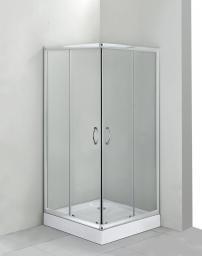 Deante Kabina Funkia 80cm kwadratowa szkło szkło szronione profil chrom (KYC 642K)