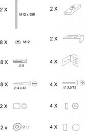 RAVAK Elementy montażowe do wanny  (B26500000N)