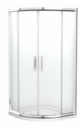 Koło Kabina półokrągła GEO6 80cm szkło transparentne profil chrom WKPG80222003