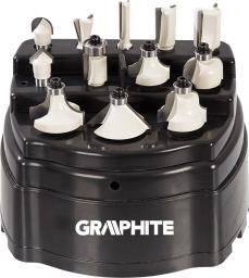 Graphite Frezy widiowe 8 mm 12 szt. (57H210)