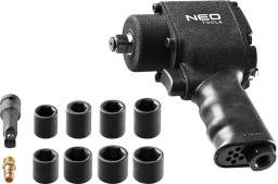 """NEO Klucz udarowy pneumatyczny 1/2"""" 675Nm + nasadki (12-022)"""